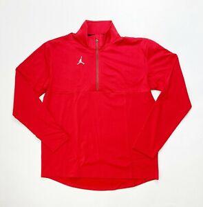 Nike Jordan Team 1/4 Zip Top Men's Large Pullover Jacket CJ1127 Red Dri-FIT