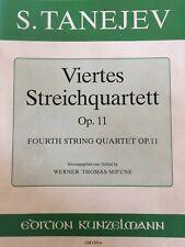 S. Tanejev - Viertes Streichquartett Op.11