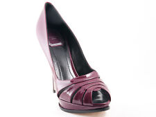 New Dior D Glam Plum Patent Leather Shoes 39.5 US 9.5