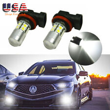 2X Xenon White Projector LED Fog Light For Acura TSX 04-14 TL 07-14 ILX 16-18