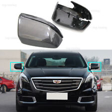 For 2014-Up Cadillac XTS Carbon Fiber Side Mirror Covers Replacement Style Caps