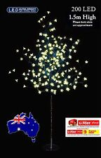 200LED 1.5M WARM WHITE CHERRY BLOSSOM SOLAR CHRISTMAS OUTDOOR TREE