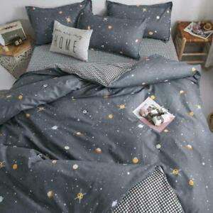 Queen Bedding Set luxury Fruit Flower Family Bed Sheet Duvet Cover Pillowcase
