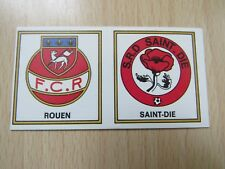 Panini Football 77 - 1977-  N° 383 - Ecussons ROUEN / SAINT DIE