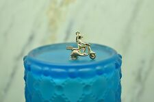 925 STERLING SILVER MOTOR SCOOTER W/ RIDER PENDANT CHARM #20972