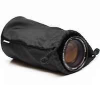 Canon Soft Lens Black Case Pouch For Telephoto Zoom Prime Lenses 7""