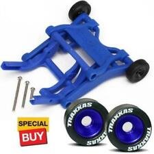 Traxxas Blue Wheelie Bar / Blue Alum Wheels & Rubber Tires :Stampede VXL /Bandit