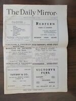 VINTAGE NEWSPAPER DAILY MIRROR NOVEMBER 2nd 1903 VERY FIRST EDITION