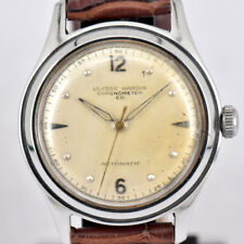 Auth Vintage ULYSSE NARDIN Chronometer Co Automatic Leather Unisex Watch L#72711