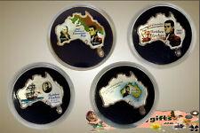 2002 Aust./Uganda 1oz. Silver Proof Coloured  Set of 4