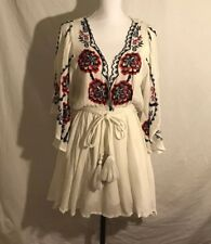 Free People Boho Dress, Size Small, Viscose, NWT, White