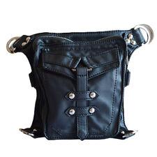 Punk Women Leather Small Waist Belt Bag Fashion Shoulder Bags Holster Bag Purse