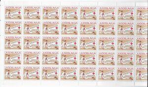 L3990 JUGOSLAVIJA  Red Cross  SHEET 50 STAMPS 1983 MNH