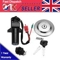 Ignition Switch & Fuel Gas Cap Seat Lock Keys Set For Yamaha YBR125 YBR 125