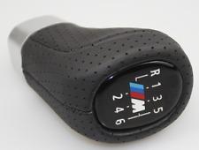 6 Speed Gear Shift Knob Leather For BMW 1 3 5 6 Series E46 E60 E62 E83 E91 E92