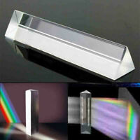 1x Optical Crystal Glass Triangular Photography Prism Light Spectrum Physics Aid