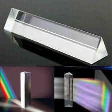 1x Optical Crystal Glass Triangular Photography Prism Light Spectrum Physics Aid