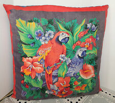 "FASHION PARROTS PRINTED PILLOW SOFA THROW CUSHION TOSS PAD BED DECOR 15""x15"""