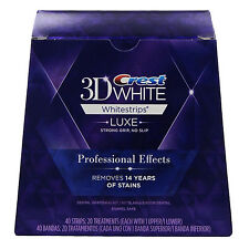 Crest 3D White Whitestrips Whitening Professional Effects 40 Strips 20 Pouches