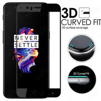3D Curved Edge Full Cover Tempered Glass Screen Protector for Oneplus 5 A5000