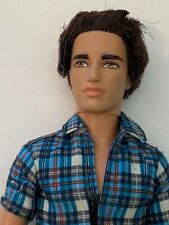 Barbie Mattel 2012 RYAN Doll Brown Rooted Hair Ken FASHIONISTA  Plaid Shirt HTF