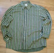 LACOSTE Mens Button down Long Sleeve Dress Shirt Polo sz 44 XL Green Pink Yellow
