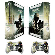 COD4 Vinyl Sticker Decals Cover for xbox360 Console + 2 controller Skins Tx12