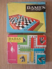 Vintage Two French Travelling Board Games (Jeu plastique) - L Couvat - Oyonnax