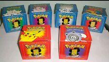 Set of 6 1999 Burger King Pokemon 23K Gold Plated Trading Cards Pokeballs