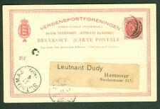 Dwi #Bk5b, 3¢ card, used Christiansted via St. Thomas to Germany