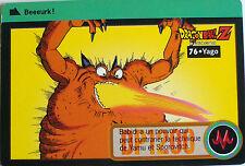 CARTE DRAGON BALL Z CARDDASS BANDAI 1995 - N-¦76 YAGO