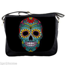 Day Of The Dead Sugar Skull Messenger Bag School Laptop Sling Travel Women Bags