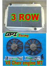 Aluminum Radiator HOLDEN Kingswood HG HT HK HQ HJ HX HZ V8 Chev engine MT + FAN