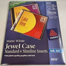 Avery 8693 Inkjet Jewel Case Inserts Matte White 20 Per Pack