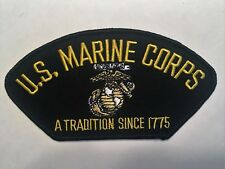 "US Marine Corps A Tradition Since 1775 Hat Patch 5-1/4"" Embroidered"