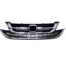 2pcs front grill + bumper grille ABS Chromed for Honda CRV CR-V 2010-2011
