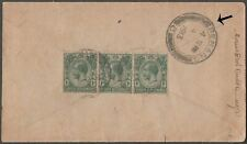 STRAITS SETTLEMENTS SINGAPORE 1c x 3 ON NICE COVER TO PENANG