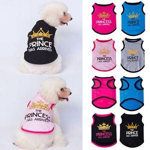 Small Dog Clothes Pet Puppy Cute Prince Princess Vest Dog Cat T-shirt Apparel