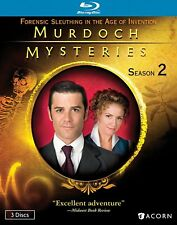 MURDOCH MYSTERIES Season 2, Like New, Blu-Ray 3- Disc Set, Fast Shipping.
