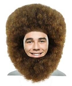 Bob Ross Afro Wig with Full Beard Set | Cosplay Halloween Wig HM-897A
