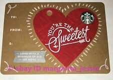STARBUCKS CANADA GIFT CARD YOU'RE THE SWEETEST VALENTINE'S HEART 2017 NO VALUE