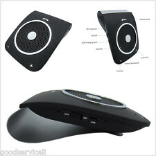 Car Sun Visor Bluetooth FM Transmitter Handfree Speakerphone with Clip 4.0+EDR
