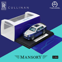 Time Model 1:64 Rolls Royce SUV CULLINAN Mansory Blue Diecast Model Car