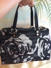 L.A.M.B. Gwen Stefani Black/White/Grey Floral Print Speedy Satchel Purse Handbag