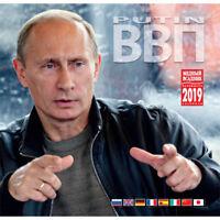 "2019 Wall Calendar VVP ""Vladimir Putin"", 300 mm x 300 mm, 8 Languages"