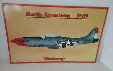 North American P 51 D Mustang Fighter Airplane Metal Sign, World War II History