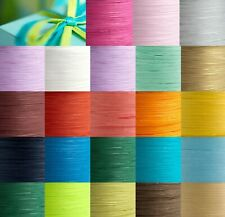 Paper Raffia Tying Ribbon 7mm - 24 Colours Craft Flowers Vintage Wedding Gifts