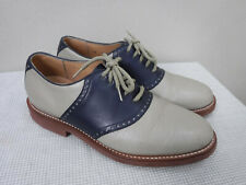 Men's Vtg CHURCHILL SPORT 10 Blue Two Toned Saddle Lace Up Dress Oxfords Shoes