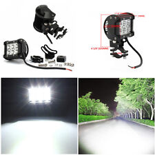 2 x Motorcycle ATV 18W Cree LED Bright White Spotlight Headlight Mounld Bracket