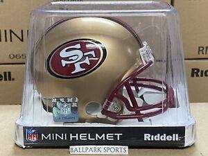 SAN FRANCISCO 49ers (1996-08 Throwback) Riddell VSR4 Mini Helmet